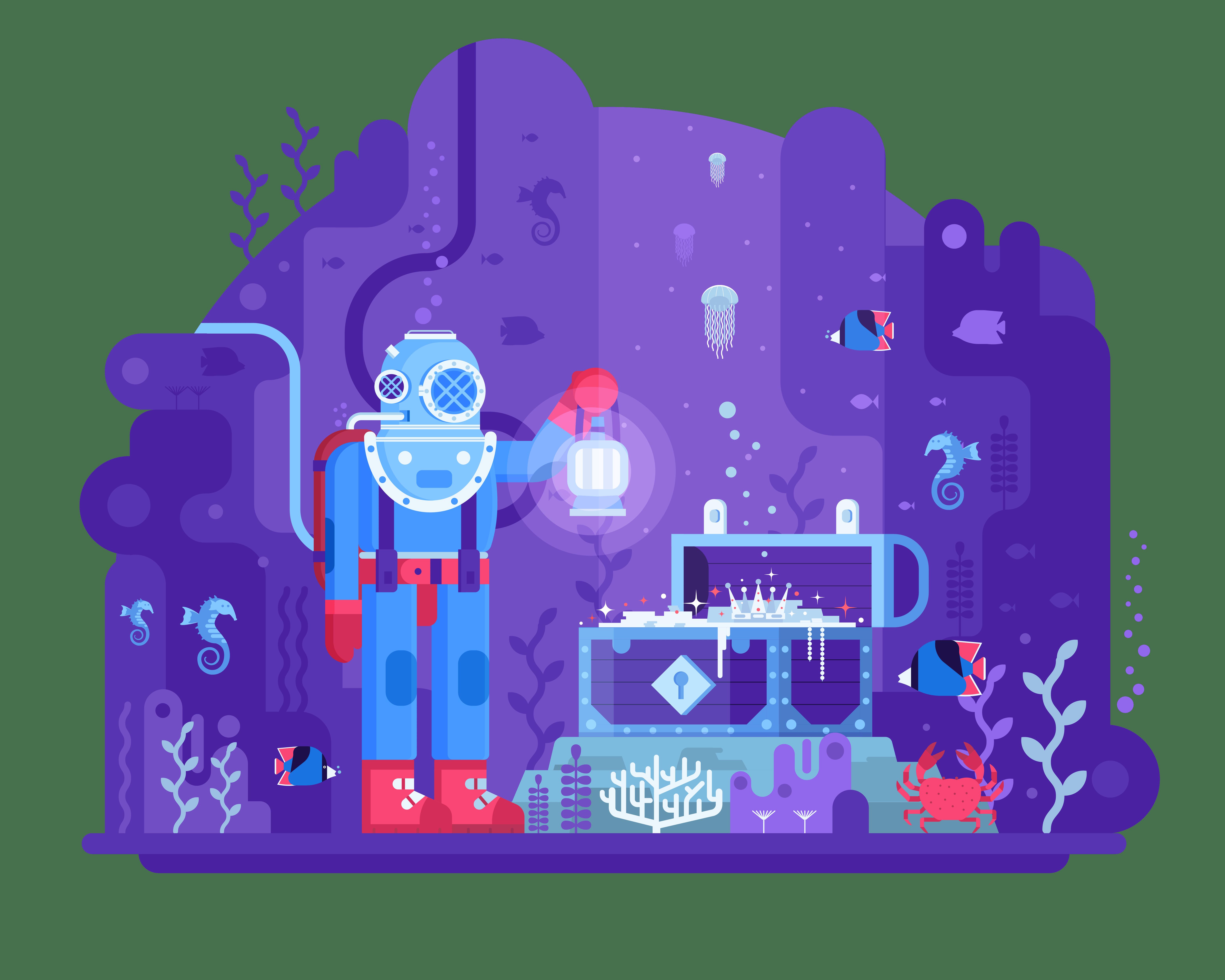 scuba-diving-vector-image